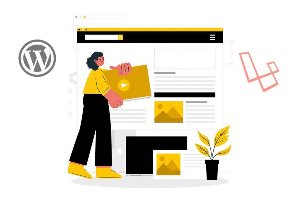 ساخت وبلاگ سایت خبری با وردپرس یا لاراول